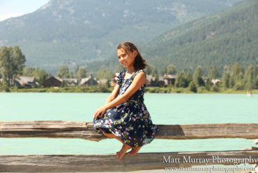 Family Portraits At Green Lake In Whistler