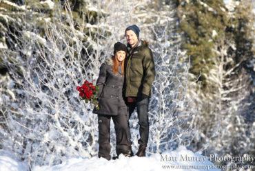 Secret Winter Engagement Proposal Photography